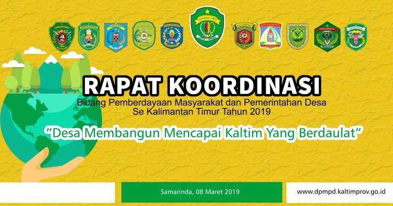 Rapat Koordinasi Bidang Pemberdayaan Masyarakat dan Pemdes Tahun 2019